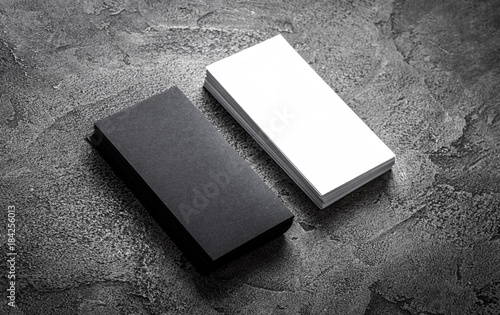 Black Paper Business Card Template On Grey Background Blank Name - Business card template paper
