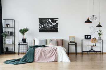 Teenager's bedroom with study space