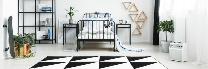 White modern boy's room