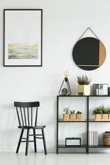Classic chair in bright room