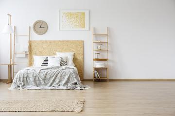 Spacious interior of a bedroom