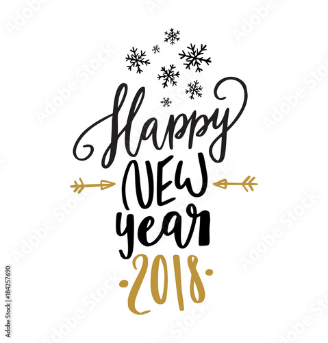 Quot happy new year calligraphy stock image and royalty free