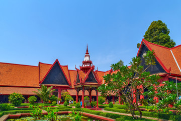 Exterior of the National Museum. Royal Palace Pnom Penh, Cambodia
