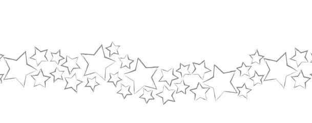 graue Sterne Weihnachten Banner