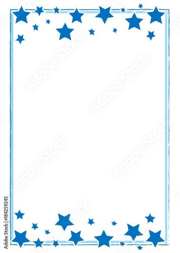 hangemalter blauer rahmen mit sternen weihnachten stock image and royalty free vector files on. Black Bedroom Furniture Sets. Home Design Ideas