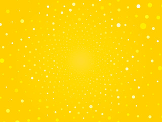 abstract yellow circle dots background