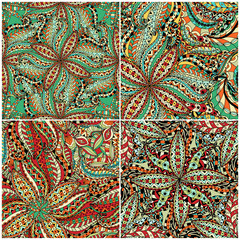 Luxury oriental tile seamless pattern.