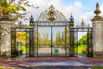 The Jubilee Gates, an entrance to Regent's park of London