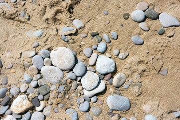 Sand and pebbles texture