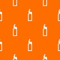 Plastic bottle of drain cleaner pattern seamless