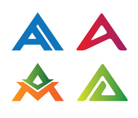 letter A logo vector set