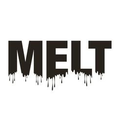 Melt word typography melting