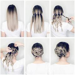 Elegant hairstyle rose bun step by step