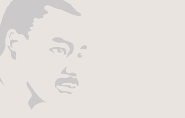 Martin Luther King Day flyer, banner or poster. Abstract background with beautiful portrait of Martin Luther. Vector illustration