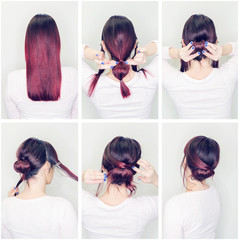 Tutorial how to make hair bun