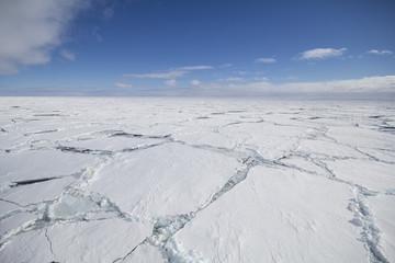 Cracked ice floe
