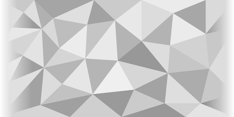 Grey abstract polygonal background. Vector eps 10.