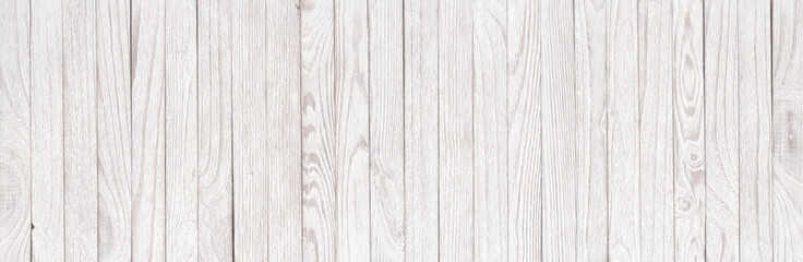 White wooden background, vintage texture, panorama. Light plank