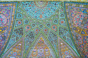 Semi-dome in Nasir Ol-Molk mosque, Shiraz, Iran