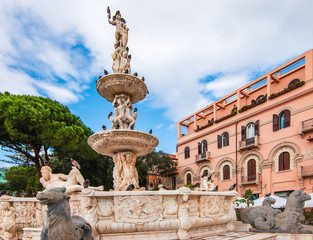 Fountain in the centre of Messina, Sicily