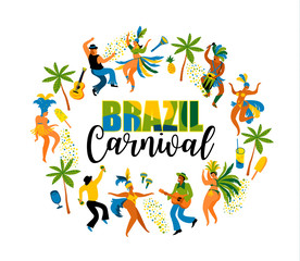Brazil carnival. Design element for carnival concept and other users.