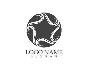 Star abstract logo design template