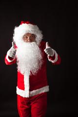 Santa Claus portrait on dark background