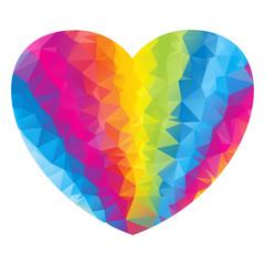 heart triangle rainbow light