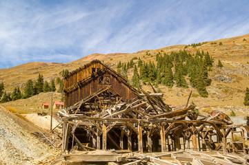 Abandoned Mine Building in Silverton Colorado