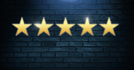Five star review rating
