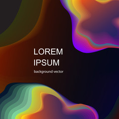 Modern abstract. Fluid organic colorful shapes. Cool gradient shapes composition