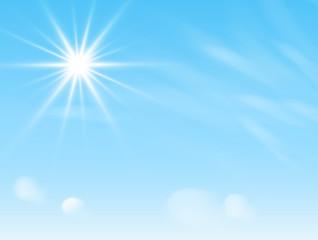 sun over blue sky