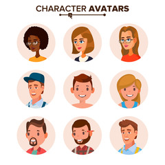 People Avatars Collection Vector. Default Characters Avatar Placeholder. Cartoon, Comic Art Flat Isolated Illustration