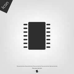Microchip vector icon