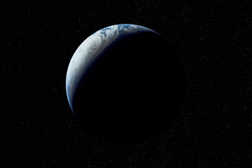 Planet earth in space. Elements of this image furnished by NASA
