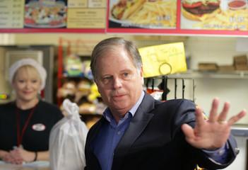 Democratic Alabama U.S. Senate candidate Doug Jones visits Chris Z's in Birmingham