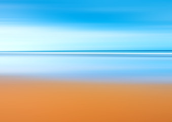 beach and endless horizon stylized with motion blur - illustration