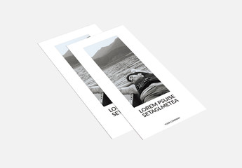 Tri-Fold Brochure Layout with Black Accents 2