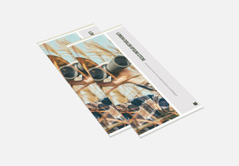 Tri-Fold Brochure Layout With Grey Accents 1