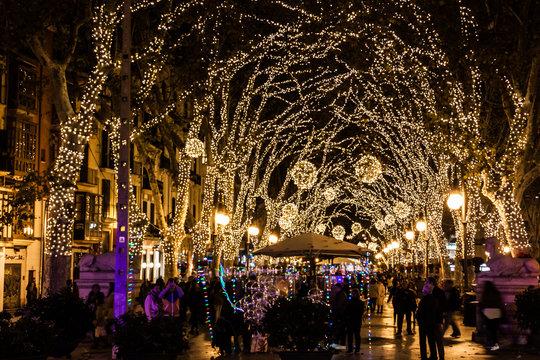 Christmas lights on Passeig del Born