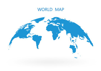 World Map Globe Isolated on white background - stock vector.