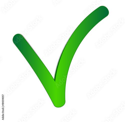 Valider - Lettre v en vert
