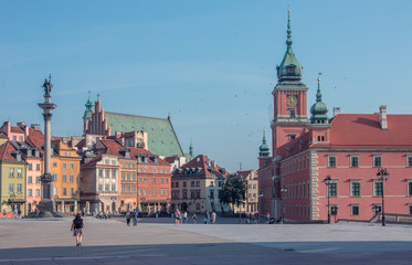 View of the Old town in Warsaw, Poland
