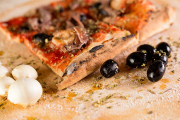 Marinara Pizza with fillet of anchovies