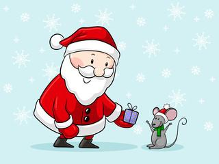 Süßer Comic Weihnachtsmann