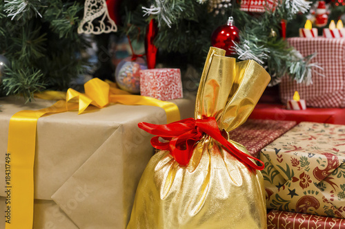 Gifts Under The Christmas Tree With Toys Stock Photo And Royalty