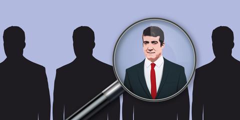 embauche - recrutement - entreprise - emploi - carrière - concept - choisir - sélectionner - recruter