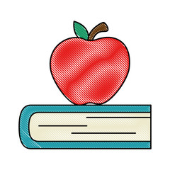 text book with apple