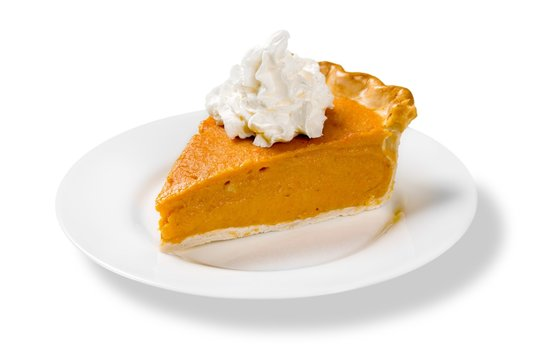 Pumpkin Pie Slice Isolated