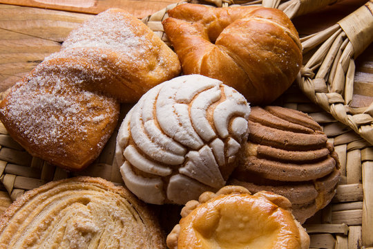Group of mexican sweet bread
